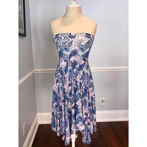 Express Strapless Paisley Dress